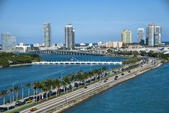 Leaving Miami, Florida Royalty Free Stock Image