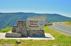 Leaving Mount St. Helens volcanic monument sign Royalty Free Stock Image