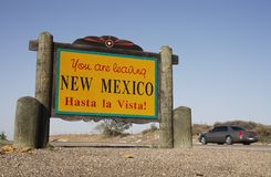 Leaving New Mexico Sign Royalty Free Stock Photos