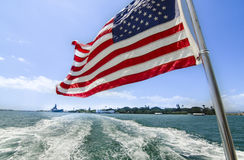 Leaving Pearl Harbor Stock Photography