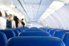Leaving plane. Passangers leaving plane after successful landing Royalty Free Stock Image
