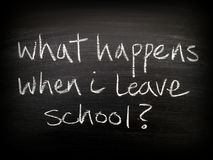 Leaving School Question Royalty Free Stock Photography