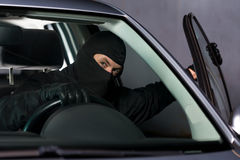 Leaving with stolen vehicle Royalty Free Stock Photos
