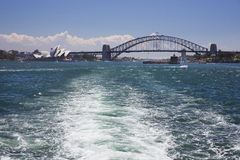 Leaving Sydney Harbour for Manly Royalty Free Stock Photos