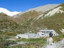 Leaving Tilicho base camp, Nepal Stock Image