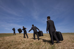 Leaving to a business travel Stock Photos