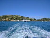 Leaving waiheke island Royalty Free Stock Photo
