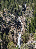 Leavitt Falls on the Sonora Pass. Spectacular Leavitt Falls, along the Sonora Pass road, California stock photography