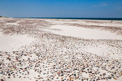 Leba, Dune with white sand hills in Poland, seaside, Baltic sea.. Stock Photography