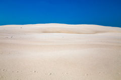Leba, Dune with white sand hills in Poland, seaside, Baltic sea.. Stock Images
