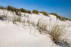 Leba, Dune with white sand hills in Poland, seaside, Baltic sea.. Royalty Free Stock Images