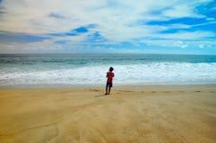 Lebak Asri海滩,玛琅,印度尼西亚 库存图片