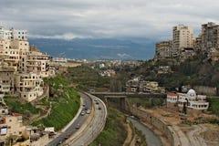 Street in Tripoli city in Lebanon stock image