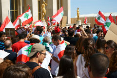 Manifestation for Lebanon in Paris Royalty Free Stock Photos