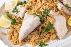 Lebanese fish rice and nuts Royalty Free Stock Photos