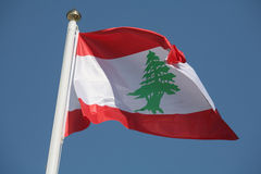 Lebanese flag stock photos