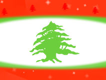 Lebanese flag design background Royalty Free Stock Photo