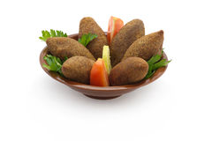 Lebanese Food of fried Kibe  Royalty Free Stock Photography