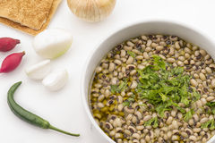Lebanese food of Loubieh Msallat , Black Eye Peaswith Bulgur Royalty Free Stock Photo