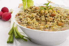 Lebanese food of Mixed Grains plate Stock Images