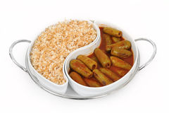 Lebanese food of stuffed zucchini and rice Stock Photos