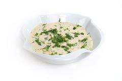 Lebanese food, tahina dip stock image