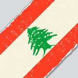 Lebanese grunge flag. Vector illustration. Royalty Free Stock Photos
