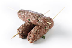 Lebanese lamb kofta over white Royalty Free Stock Photography