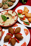 Lebanese Mezze. Lebanese and mediterranean healthy food Stock Photography