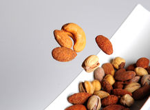 Lebanese nuts flying stock photography
