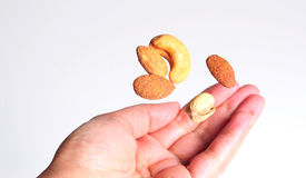 Lebanese nuts flying Royalty Free Stock Photos