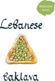 Lebanese pastries Royalty Free Stock Photography