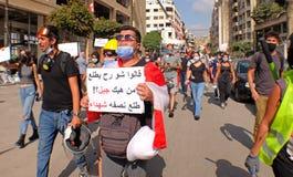 Lebanese People  Revolt Again, August 2020