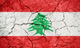 Lebanese Republic flag Royalty Free Stock Image