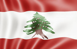 Lebanese Republic, Lebanon Flag Stock Image