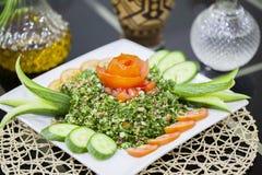 Lebanese salad `Tabbouleh` stock photo