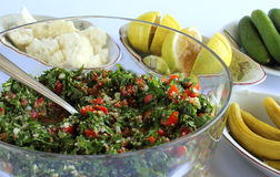 Lebanese salad - taboule Royalty Free Stock Photo