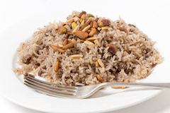 Lebanese-style spiced rice with meat Royalty Free Stock Image