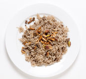 Lebanese-style spiced rice with meat Royalty Free Stock Images