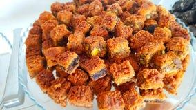 Lebanese sweets. Lebanese cuisine. Sidon, Lebanon. June, 2019 stock images