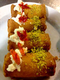 Lebanese Sweets, Lebanon. Traditional Desserts of Beirut, Lebanon royalty free stock photo