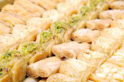 Lebanese sweets. With nuts , close up shot stock photos