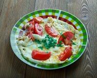 Lebanese tomato omelette Royalty Free Stock Image