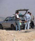 Lebanese Vendors Sell Food From Car Trunk, Lebanon royalty free stock images