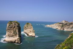 Lebanon. Pigeon rocks in beirut Royalty Free Stock Image