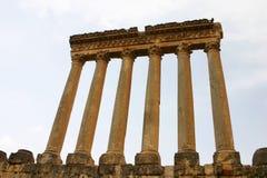 Lebanon. Columns in baalbek Royalty Free Stock Photos