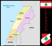 Lebanon Administrative divisions Stock Images