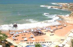 Lebanon: The beach of the luxury resort hotel Mövenpick in Beirut-City. royalty free stock photos