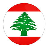 Lebanon button with flag. Abstract illustration: button with flag from Lebanon country Royalty Free Stock Photo