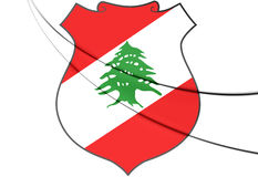 Lebanon coat of arms. Royalty Free Stock Image